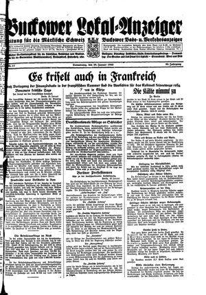 Buckower Lokal-Anzeiger vom 26.01.1933