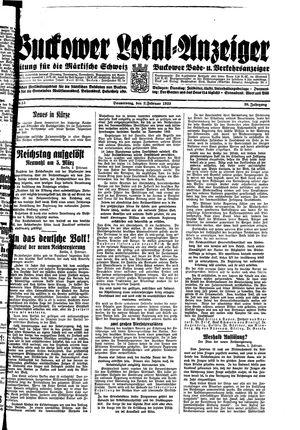 Buckower Lokal-Anzeiger vom 02.02.1933