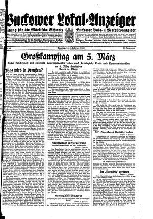 Buckower Lokal-Anzeiger vom 05.02.1933