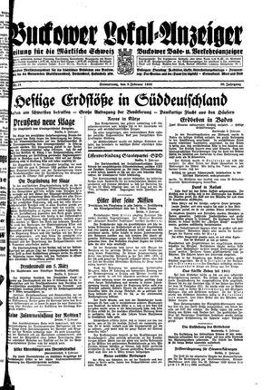 Buckower Lokal-Anzeiger vom 09.02.1933
