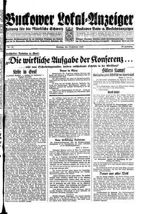 Buckower Lokal-Anzeiger vom 12.02.1933