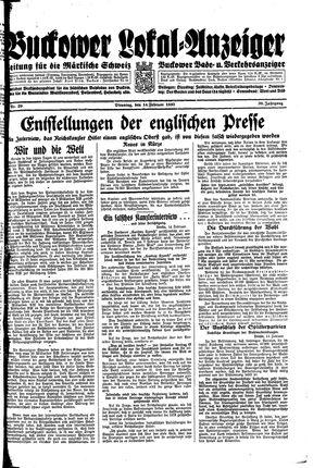 Buckower Lokal-Anzeiger vom 14.02.1933