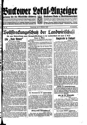 Buckower Lokal-Anzeiger vom 16.02.1933
