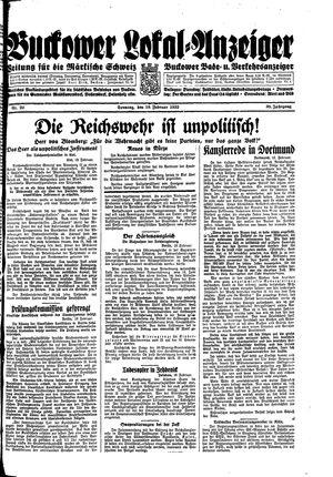 Buckower Lokal-Anzeiger vom 19.02.1933