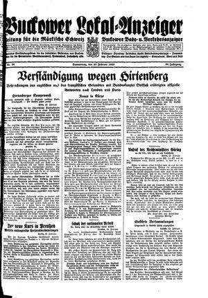 Buckower Lokal-Anzeiger vom 23.02.1933