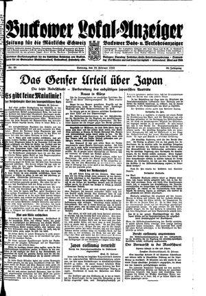 Buckower Lokal-Anzeiger on Feb 26, 1933