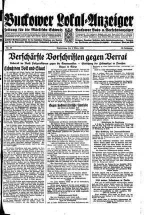Buckower Lokal-Anzeiger vom 02.03.1933