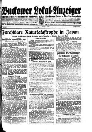 Buckower Lokal-Anzeiger vom 05.03.1933