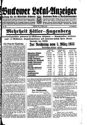 Buckower Lokal-Anzeiger vom 06.03.1933