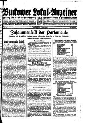 Buckower Lokal-Anzeiger vom 07.03.1933