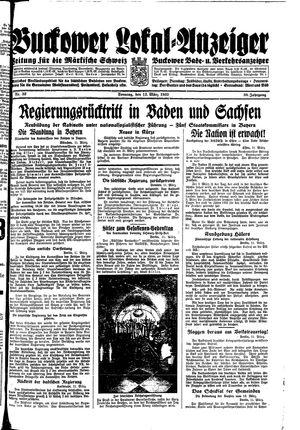 Buckower Lokal-Anzeiger vom 12.03.1933