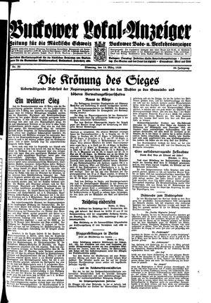 Buckower Lokal-Anzeiger vom 14.03.1933