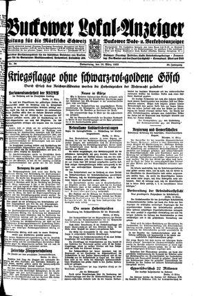 Buckower Lokal-Anzeiger on Mar 16, 1933