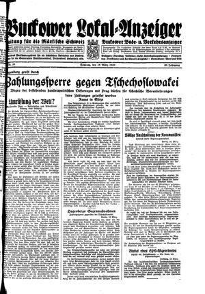 Buckower Lokal-Anzeiger on Mar 19, 1933