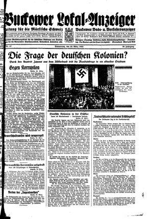 Buckower Lokal-Anzeiger vom 23.03.1933