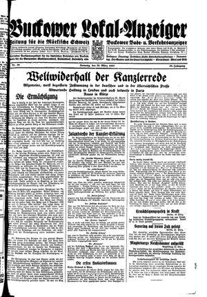 Buckower Lokal-Anzeiger vom 26.03.1933