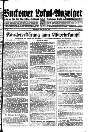 Buckower Lokal-Anzeiger vom 30.03.1933