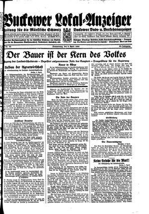 Buckower Lokal-Anzeiger on Apr 6, 1933