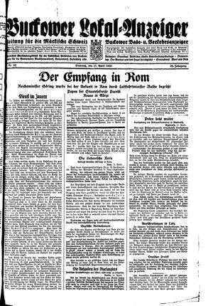 Buckower Lokal-Anzeiger vom 11.04.1933