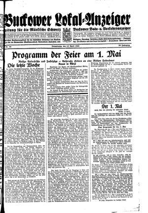 Buckower Lokal-Anzeiger vom 13.04.1933