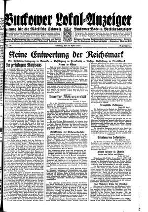 Buckower Lokal-Anzeiger vom 23.04.1933