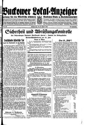 Buckower Lokal-Anzeiger vom 27.04.1933
