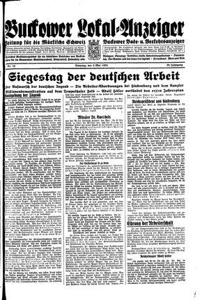 Buckower Lokal-Anzeiger vom 02.05.1933