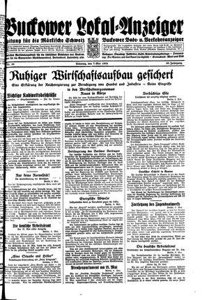 Buckower Lokal-Anzeiger vom 07.05.1933