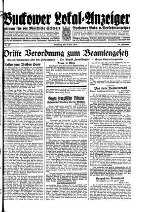 Buckower Lokal-Anzeiger on May 9, 1933