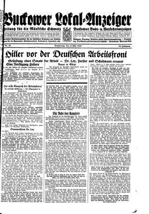 Buckower Lokal-Anzeiger vom 11.05.1933