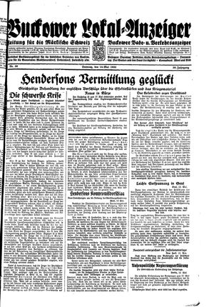 Buckower Lokal-Anzeiger on May 14, 1933