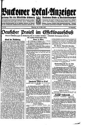 Buckower Lokal-Anzeiger on May 16, 1933