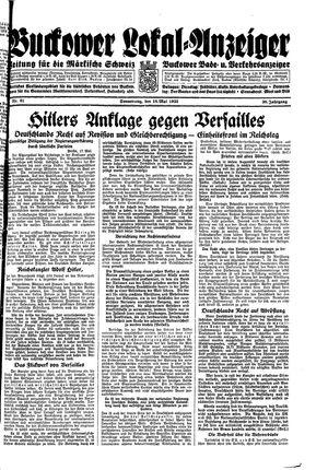 Buckower Lokal-Anzeiger vom 18.05.1933