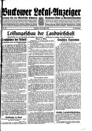 Buckower Lokal-Anzeiger vom 21.05.1933
