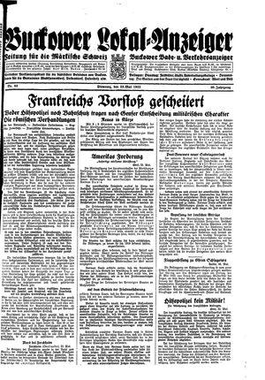 Buckower Lokal-Anzeiger vom 23.05.1933