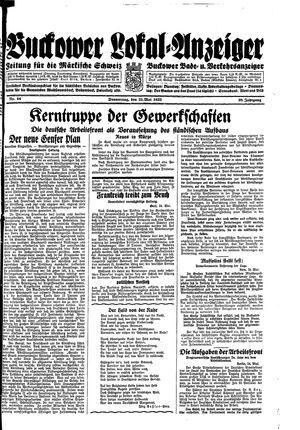 Buckower Lokal-Anzeiger vom 25.05.1933