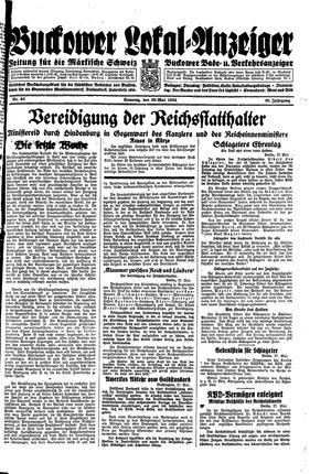 Buckower Lokal-Anzeiger vom 28.05.1933