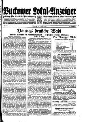 Buckower Lokal-Anzeiger vom 30.05.1933