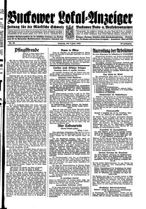 Buckower Lokal-Anzeiger vom 04.06.1933