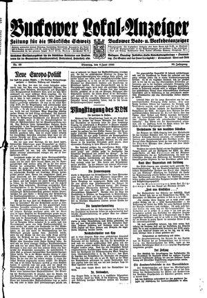 Buckower Lokal-Anzeiger vom 06.06.1933