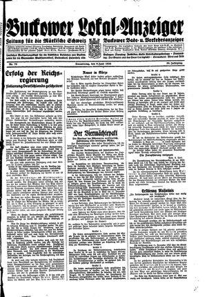 Buckower Lokal-Anzeiger vom 08.06.1933