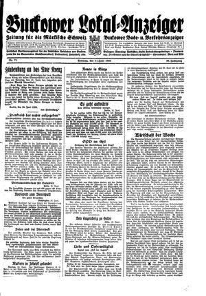Buckower Lokal-Anzeiger vom 11.06.1933