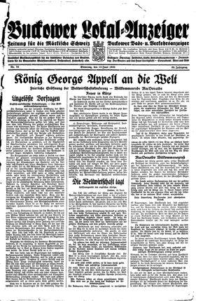 Buckower Lokal-Anzeiger vom 13.06.1933