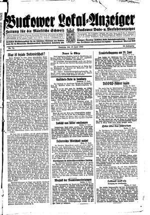 Buckower Lokal-Anzeiger vom 18.06.1933