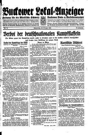 Buckower Lokal-Anzeiger vom 22.06.1933
