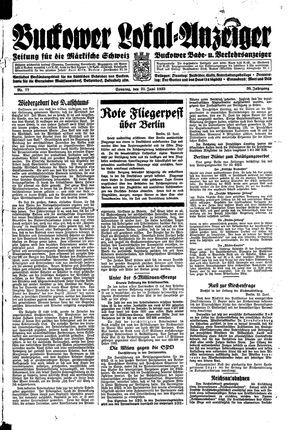 Buckower Lokal-Anzeiger on Jun 25, 1933