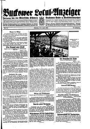 Buckower Lokal-Anzeiger vom 04.07.1933