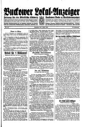 Buckower Lokal-Anzeiger vom 09.07.1933