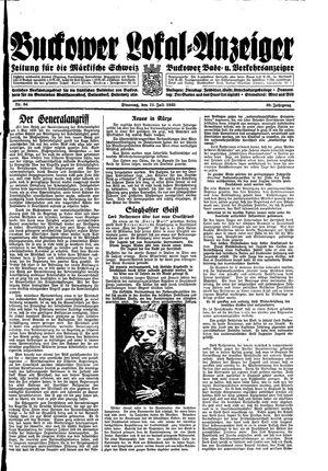 Buckower Lokal-Anzeiger vom 11.07.1933