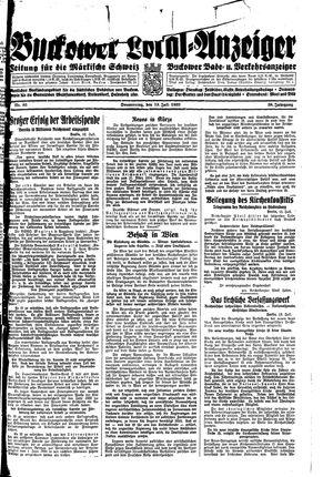 Buckower Lokal-Anzeiger vom 13.07.1933